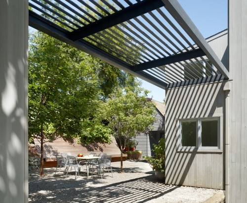 Cool vinyl pergola the longer lasting beauty awesome cary bernstein architect potrero house contemporary patio design with simple vynil pe