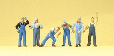 Preiser Kg US Railway Workers -- Model Railroad Figures -- HO Scale -- #10547