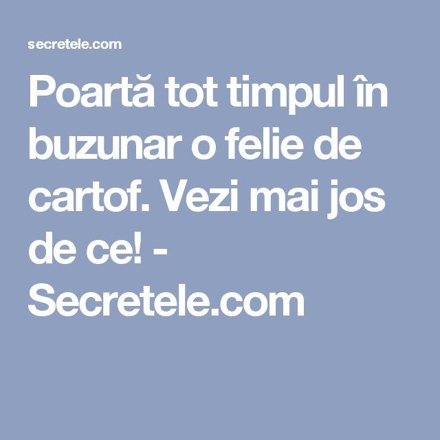 Poartă tot timpul în buzunar o felie de cartof. Vezi mai jos de ce! - Secretele.com