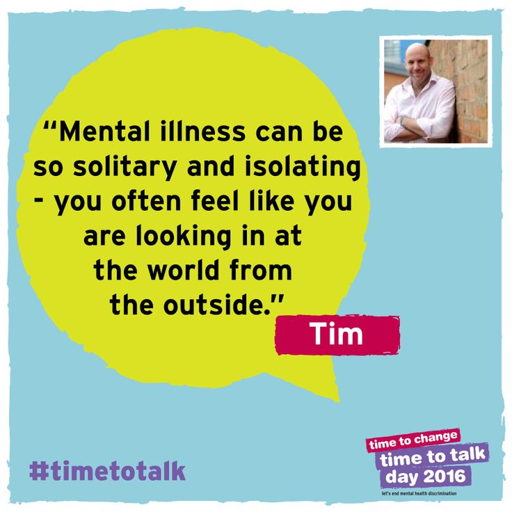 """I remember receiving a message from a man called James, who had been diagnosed with #bipolar disorder but had never told anyone. For people who are struggling at home alone, seeing so much coverage of #mentalhealth issues on one day can be life changing."" Tim shares his experiences and why he's taking part in this year's Time to Talk Day."