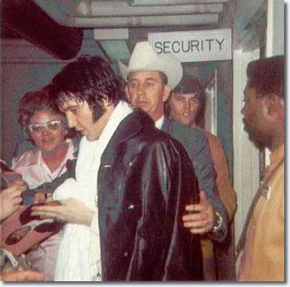 Elvis Presley | Backstage Houston Astrodome February 1970 : Date unknown. Elvis flew to Houston for his shows at the Houston Livestock Show and Rodeo in Kirk Kerkorian's private jet on February 25.