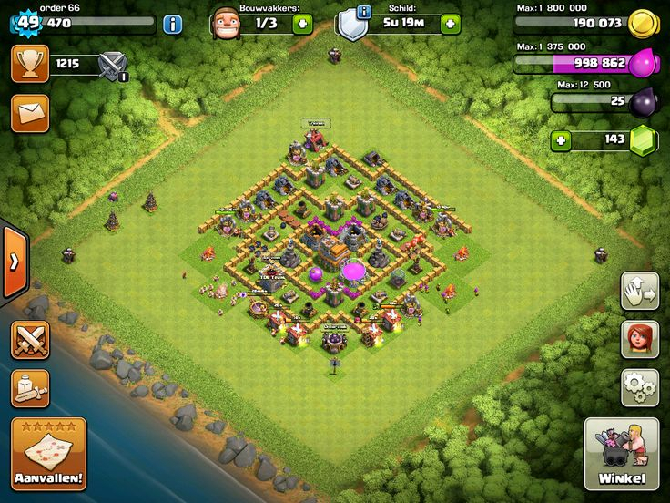 Clash of clans zeventh shot of my base