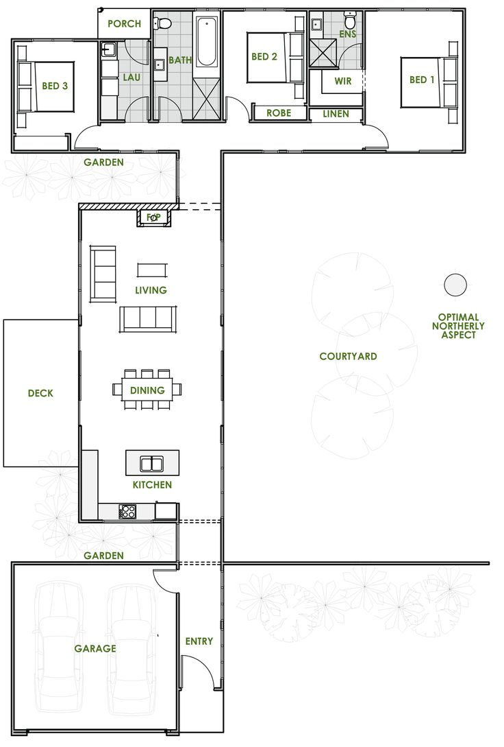 Green home designs floor plans for Modern efficient house plans