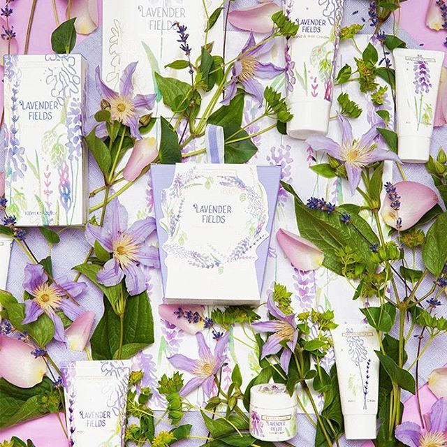 Lavender Fields For all...We've got a another new lavender enthused line which has just dropped in time for #Spring.   New formulations, New design. A gentle stroll through fields of swaying lavender...
