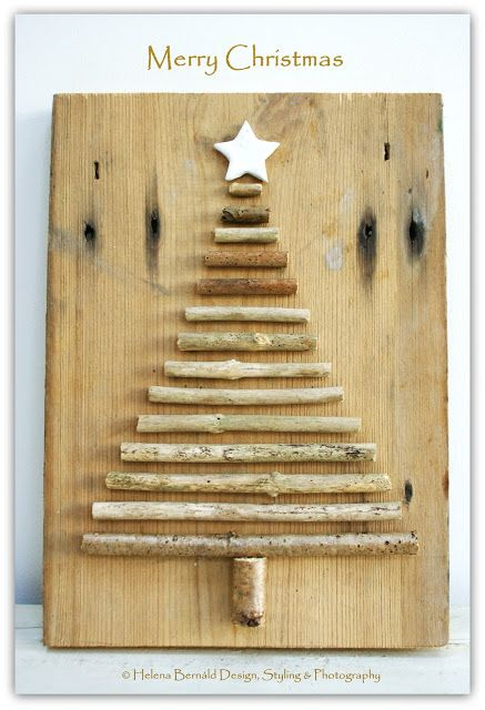 The Swenglish Home: Christmas.  Could we come up with a cheap background…..log slice; cardboard box 2 pieces glued together; something with brown paper or christmas paper???