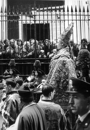 Branzi Piergiorgio Napoli Processione San Gennaro Anni 50