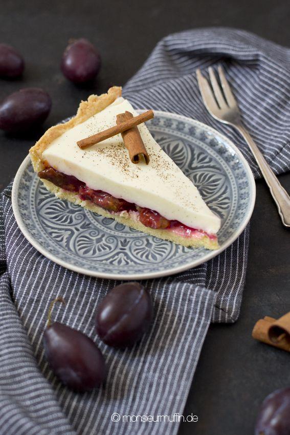 Pflaumen-Vanilletarte | Vanilletarte | Pflaumentarte | plum tarte | plumtarte with vanille cream | recipe | plum | Pflaumen | Rezept | Kuchen | © monsieurmuffin