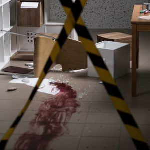 Photo of a blood spill in a Sydney home.