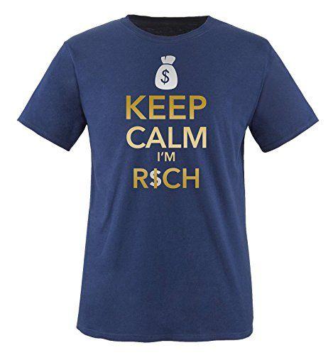 Comedy Shirts - KEEP CLAM I'M RICH - CASH - children T-Shirt camiseta - marina / dorado-plateado tamaño 86-92 #camiseta #starwars #marvel #gift