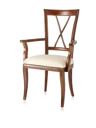 French Heritage Charles X Arm Chair, Sun Bleached Rosewood