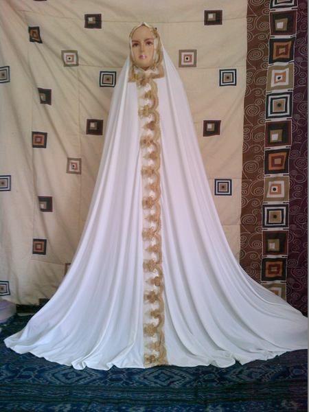mukena dubai putih