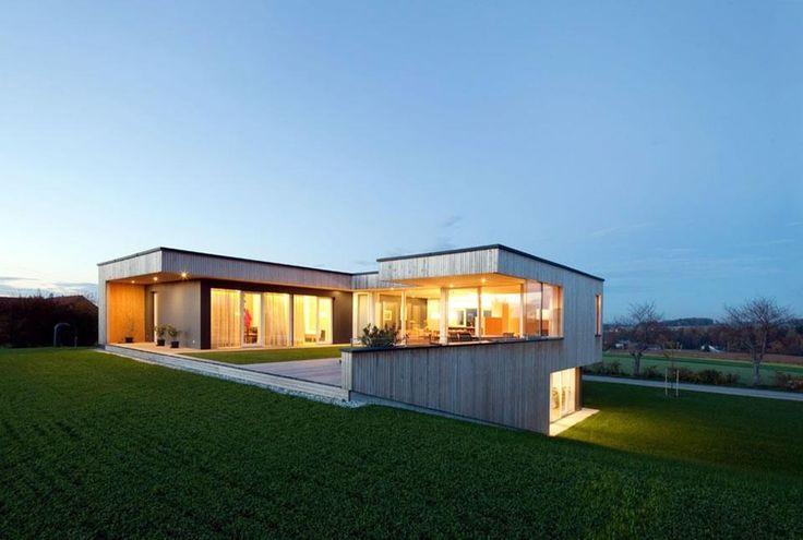 Коттедж из деревянных панелей в Нойхофене (Австрия) | Примеры домов из клееных панелей