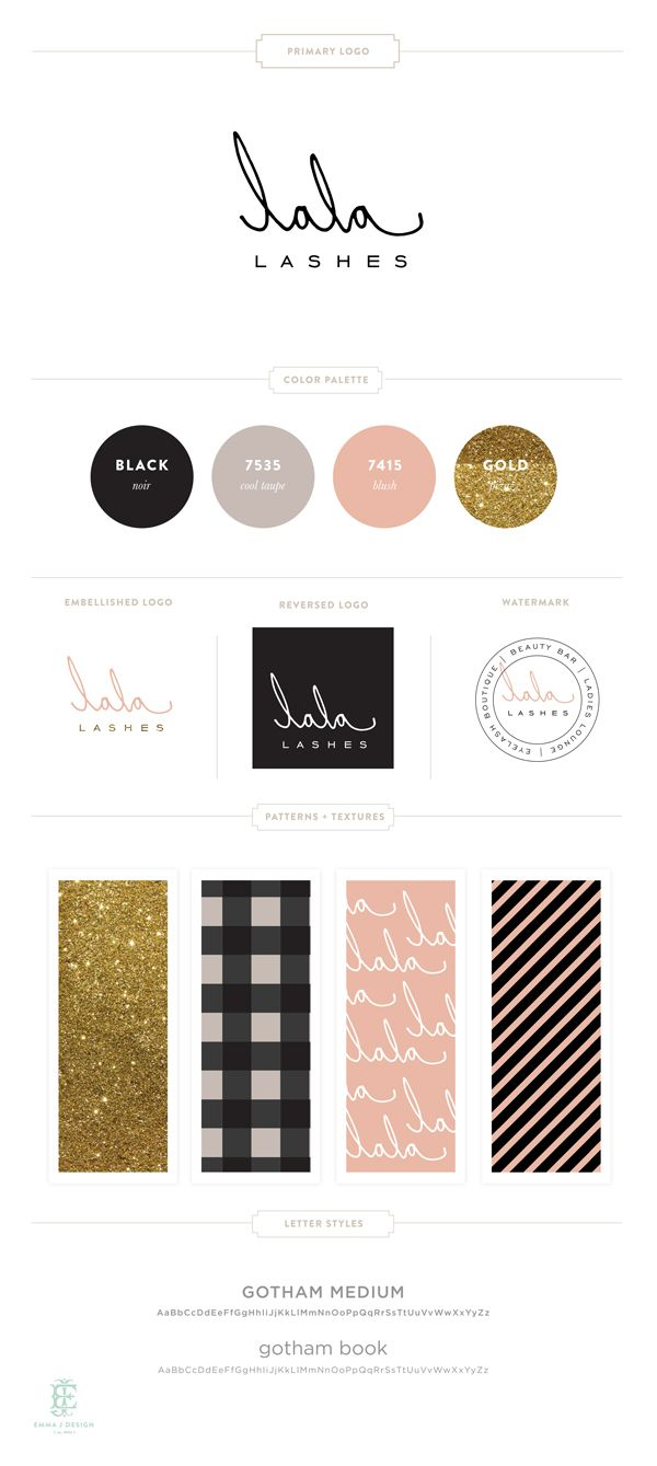 Lala Lashes Brand Design by Emily McCarthy #chicbusiness #businessinspiration #chicdesign