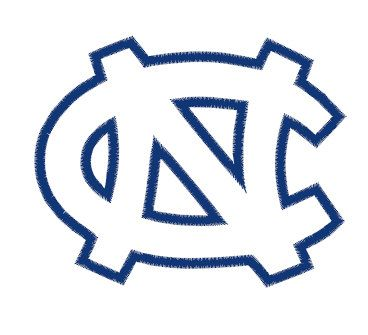 North Carolina Tar Heels Embroidery Design Instant