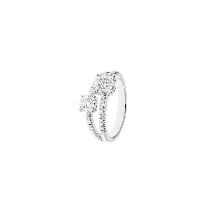 Anello in oro bianco e diamanti 0,55 ct - STROILI ORO