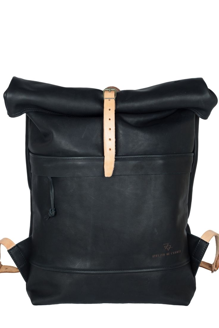 "The ""352"" Roll Top Backpack by Atelier de l'Armée http://www.sprhuman.com/2014/02/the-bag-352-roll-top-backpack-by-atelier-de-larmee/"