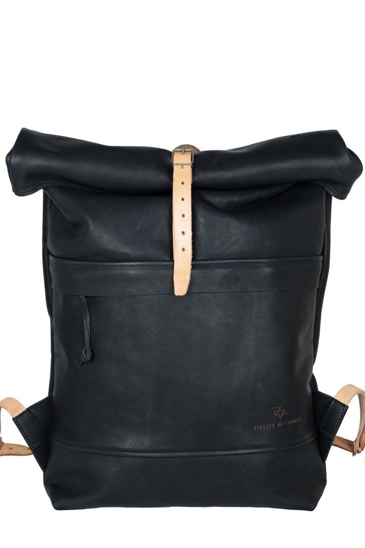 "The ""352"" Roll Top Backpack by Atelier de l'Armée http://www.sprhuman.com/2014/02/the-bag-352-roll-top-backpack-by-atelier-de-larmee/"