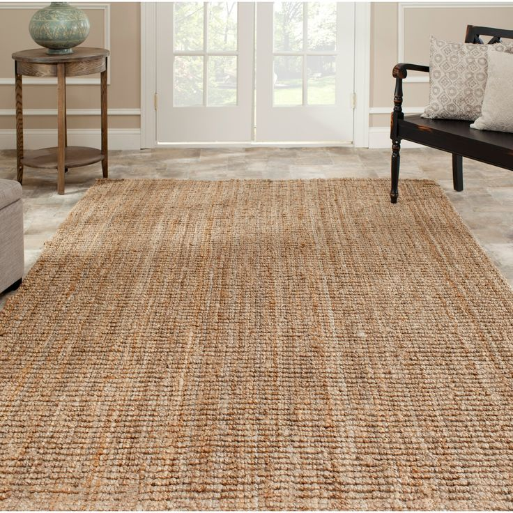 safavieh casual natural jute handwoven chunky thick rug 8u0027 x 10u0027 by safavieh - Seagrass Rug