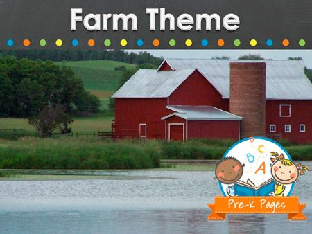 Ideas for teaching a farm theme in your preschool, pre-k, or kindergarten classroom.