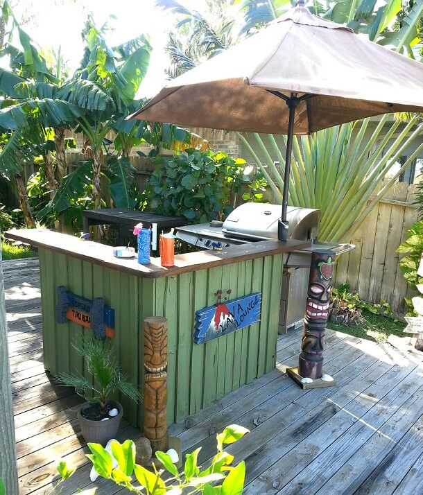 Tiki Bar   How Stinking Cute Would This Be On A Patio?