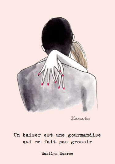 Un baiser est une gourmandise qui ne fait pas grossir. #Citation #Humour #HistoireDrole #rire #ImageDrole #Proverbe #myfashionlove www.myfashionlove.com