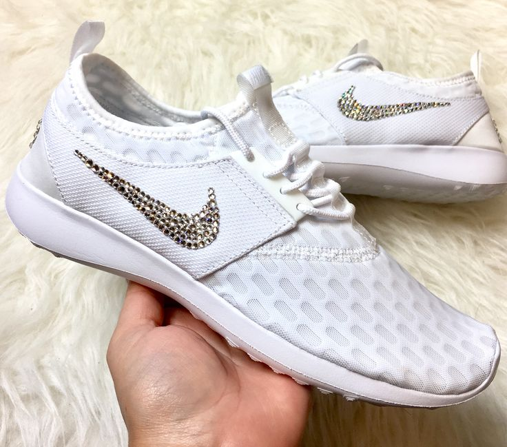 Swarovski Nike Juvenate White Custom Shoes With Beautiful Diamond Swarovski  Crystals women s bling nike shoes 07e451d57c1f