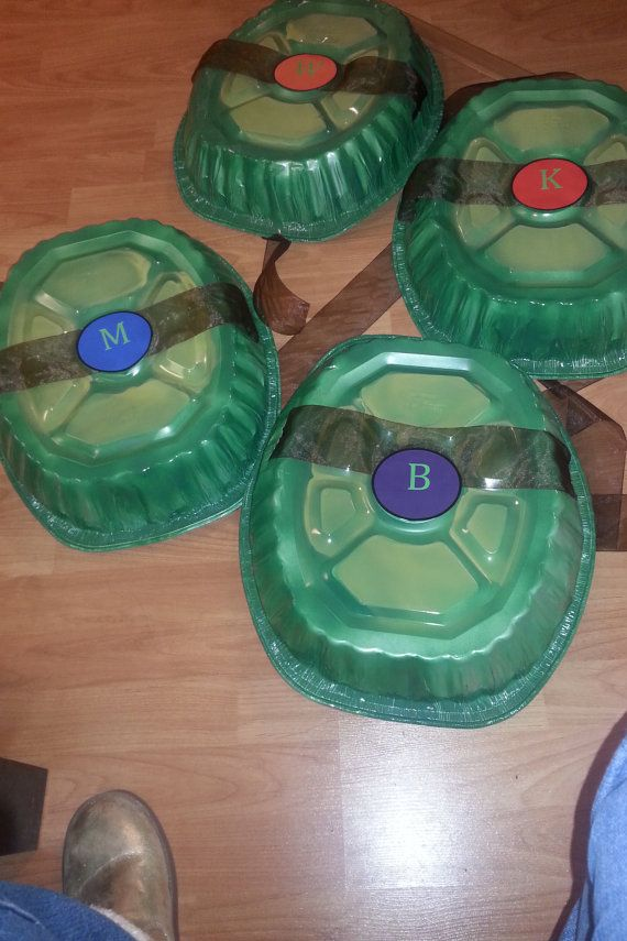 Ninja Turtle Party Shells Set Of 4 By Taylensbowtique On