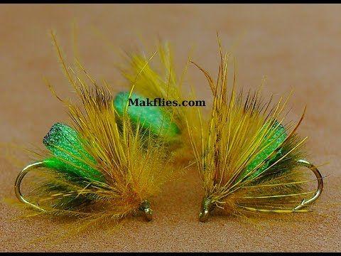 (33) Tying a Foam Body Unsinkable Olive Elk Hair Caddis Dry Fly by Mak - YouTube