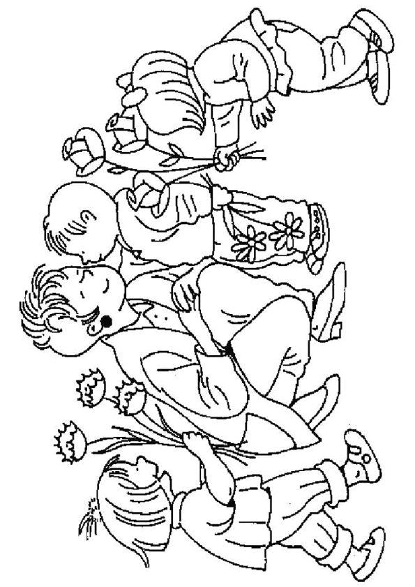 Dessin Des Enfants Qui Souhaitent Bonne F 234 Te Maman Et Lui