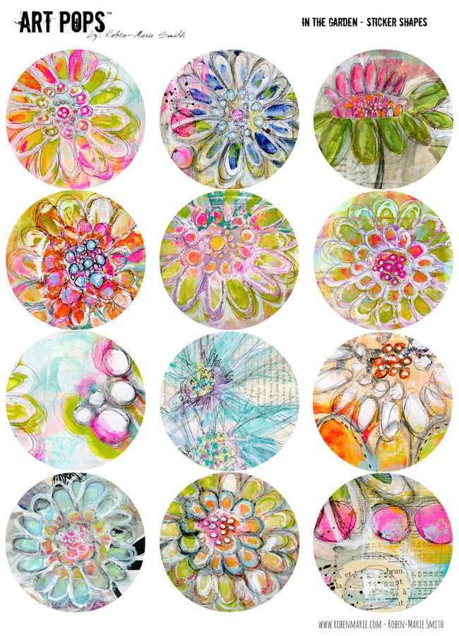 ART POPS™ Sticker Shapes - In the Garden Collection