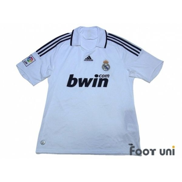 Photo1: Real Madrid 2008-2009 Home Shirt LFP Patch/Badge w/tags adidas bwin - Football Shirts,Soccer Jerseys,Vintage Classic Retro - Online Store From Footuni Japan