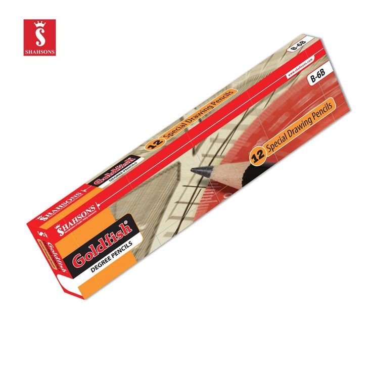 Shahsons Goldfish Polished Degree Pencils - 2 HB - 12 PACK - Quality Drafting Pencils - made in Pakistan
