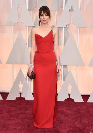 Dakota Johnson in Saint Laurent  Oscars 2015 Red Carpet: See All The Gorgeous Gowns From The Academy Awards