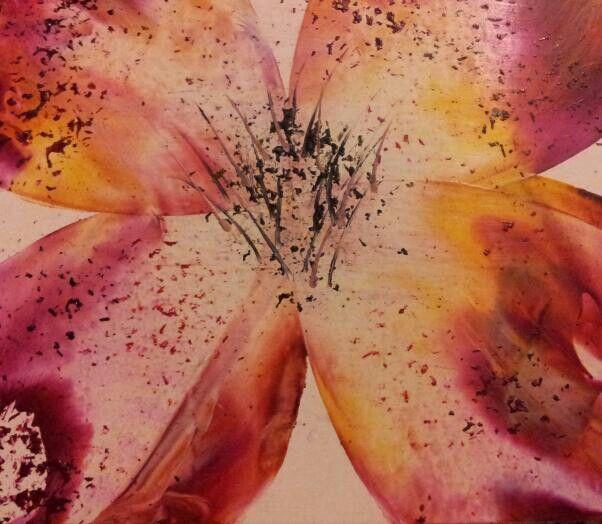 encaustic flower idea for my next workshop x