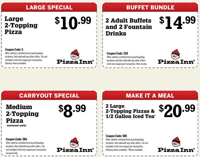 graphic about Cici's Pizza Printable Coupons titled Pizza inn discount coupons march 2018 - Iup discount codes