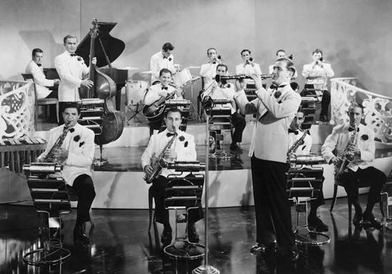 1940's big band music. These guys had to be good musicians.