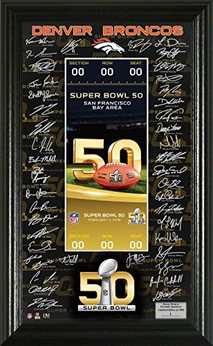 Denver Broncos Super Bowl 50 Signature Ticket -- You can get more details by clicking on the image.