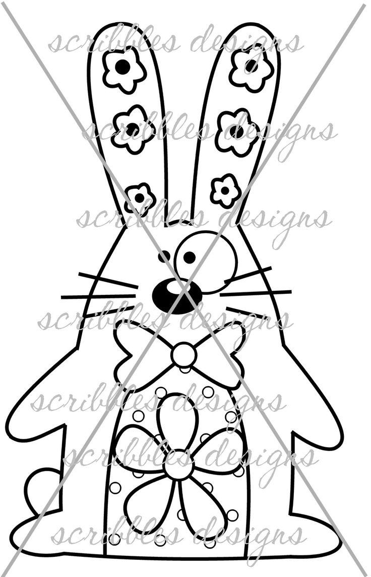 $3.00 Hoppy 4 (http://buyscribblesdesigns.blogspot.ca/2014/03/429-hoppy-4-300.html) #digital stamps #digis #bunny #Easter #scribbles designs