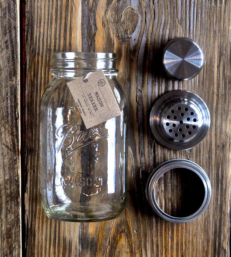 Mason jar shaker for my personal Brooklyn bar. yeahhh.