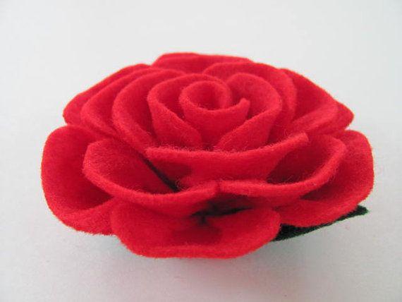 Flower Pattern TIFFANY ROSE No Sew Felt Flower by SewYouCanToo