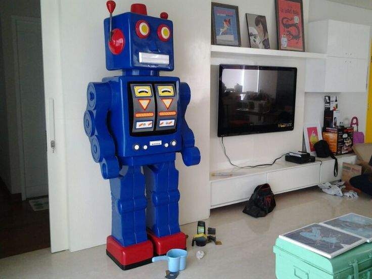 Our new favorite Robot Gedek in the living room at Permata Hijau Residence Apartment, Jakarta