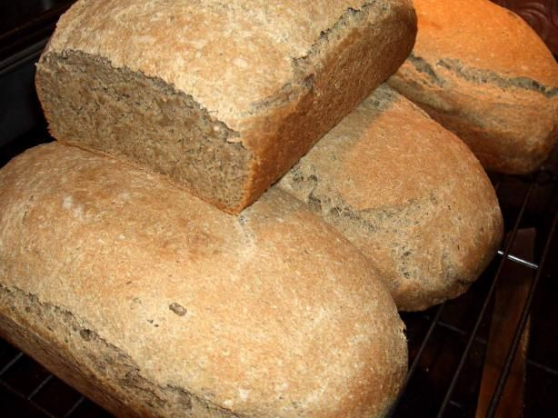 """Ezekiel bread"" recipe -- does not appear to actually use sprouted grains, but uses a lot of high-protein things... worth a try!"