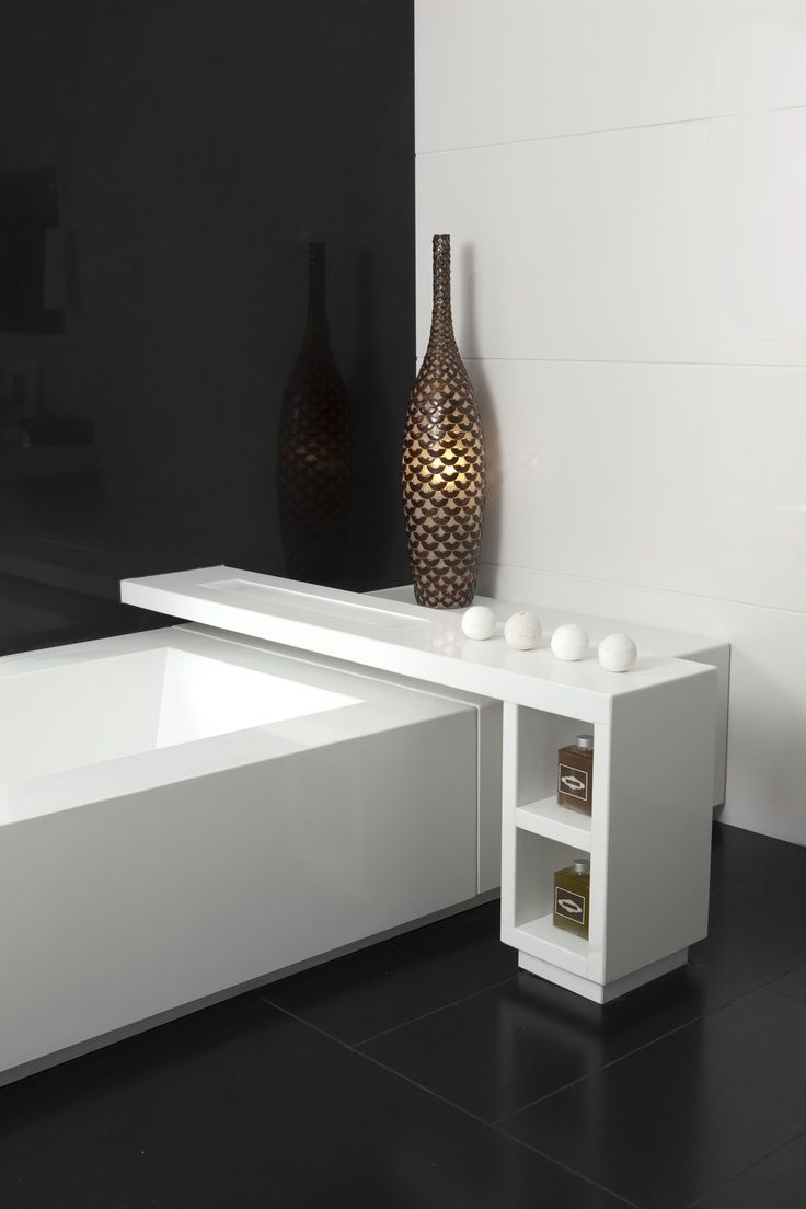 Perfect accessory to rest a candle, a glass of champagne, or perhaps an MP3 dock while you take a bath. #2141 Blizzard www.caesarstone.sg