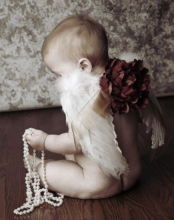 HeavenlyThe New Vintage Baby Angel Wings by LoveBabyJCouture, $44.00