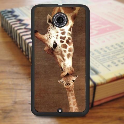 Giraffes Kissing Animal Nexus 6 Case