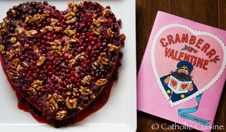 Beautiful cranberry upside-down cake!