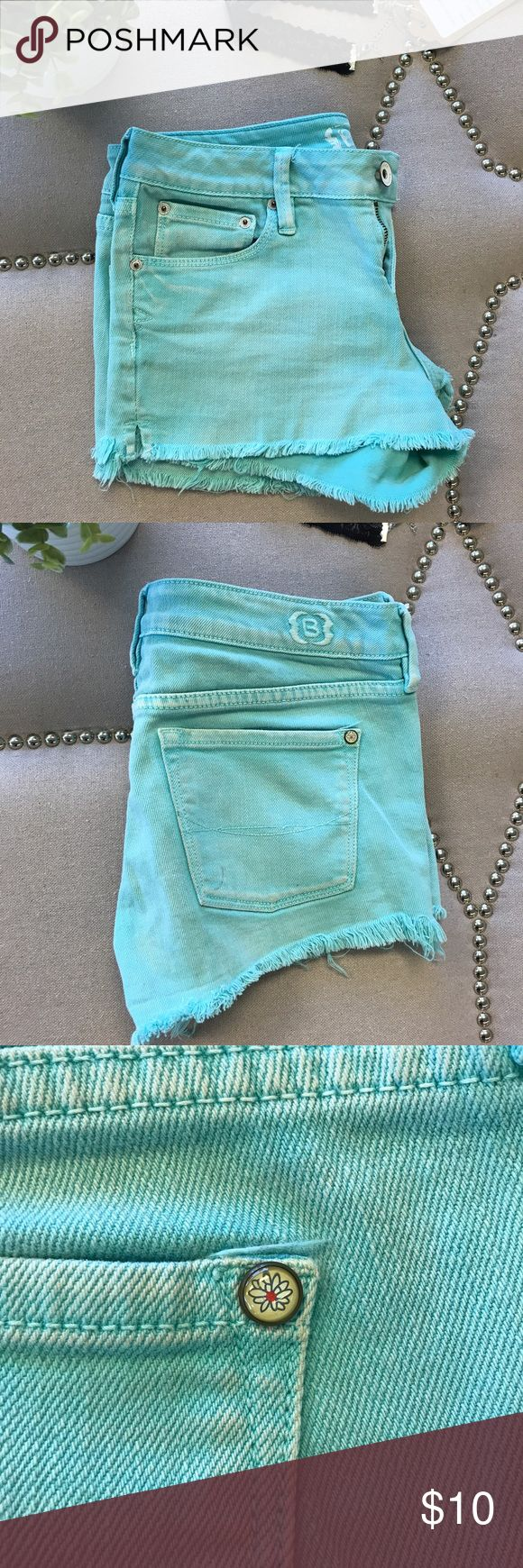 Teal shorts Teal shorts. Used condition, but still have a ton of life left. Small stain on back pocket, as shown in second picture. Measurements upon request. B Shorts