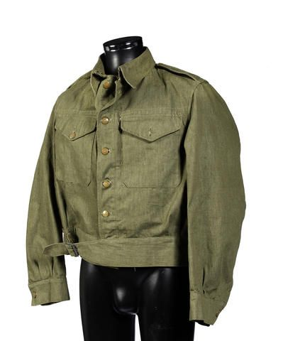 Dad's Army: a battle dress jacket worn by actor James Beck as Private Walker,