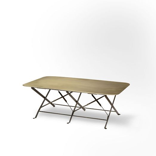 gold folding coffee table