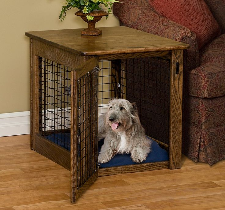#Amish Made Wire #Dog #Crate End Table - Black Walnut